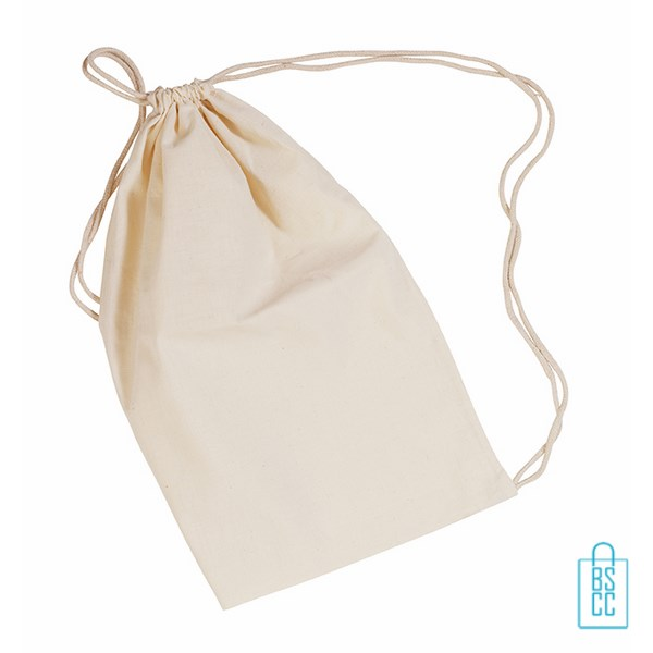 Relatiegeschenken Katoenen Tas : Katoenen tas rugzak bedrukken vanaf