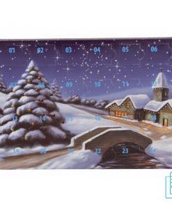 Adventskalender bedrukken, chocolade bedrukken, kerstkalender bedrukken