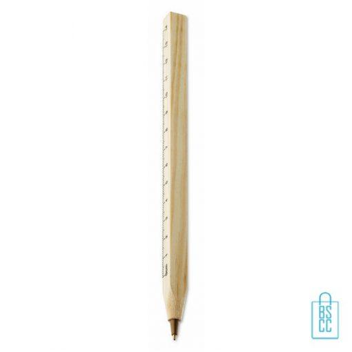 Pen liniaal bedrukken, eco pennen bedrukken, duurzame pennen bedrukken, milieuvriendelijke pennen bedrukken