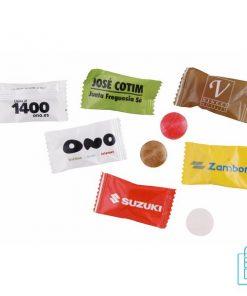 flowpack bedrukken, verpakte snoepjes bedrukken, snoepjes bedrukken