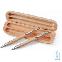 houten pennen bedrukken, houten pennenset bedrukken, eco pennen bedrukken