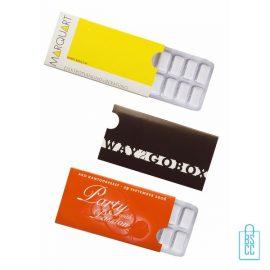 Kauwgompakje bedrukken, kauwgompakje bedrukt, bedrukte kauwgompakje, kauwgompakje met logo