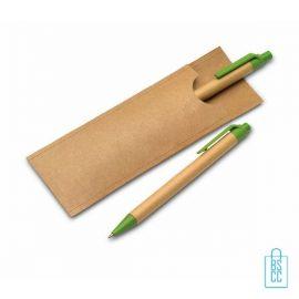 Recycle balpen set bedrukken, duurzame pen bedrukken, eco pennen bedrukken