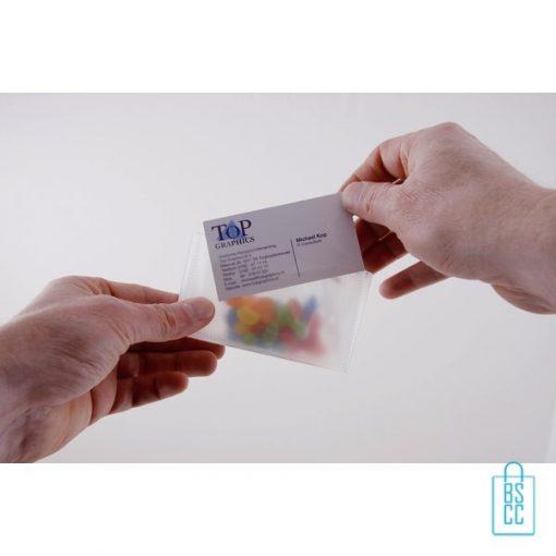 Snoep doosje bedrukken, snoep doosje met logo, goedkoop snoep doosje, snoep doosje visitekaartje