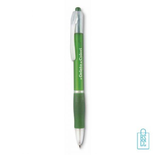 Transparante pennen bedrukken, doorzichtige pennen bedrukken, frosty pennen bedrukken