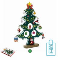 Houten kerstboom bedrukken, kerstboomhanger bedrukken, bedrukte kerstboomhanger met logo, goedkope kerstgeschenken bedrukken