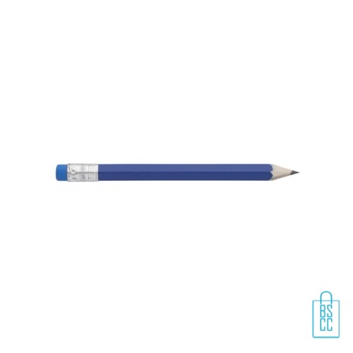 Kleine potloden bedrukken, recht, blauw, kleine potloden bedrukt, bedrukte kleine potloden, kleine potloden met logo