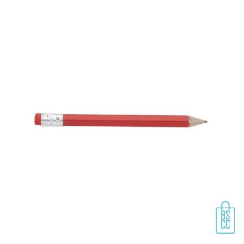 Kleine potloden bedrukken, recht, rood, kleine potloden bedrukt, bedrukte kleine potloden, kleine potloden met logo