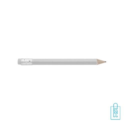 Kleine potloden bedrukken, recht, wit, kleine potloden bedrukt, bedrukte kleine potloden, kleine potloden met logo
