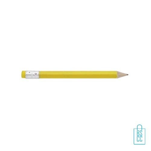 Kleine potloden bedrukken, recht, kleine potloden bedrukt, bedrukte kleine potloden, kleine potloden met logo