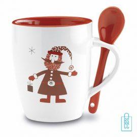 Mok met lepel kerstgeschenk bedrukken, doos, mok bedrukt, bedrukte mok, mok met logo