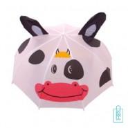 Kinderparaplu bedrukken met logo koe , kinderparaplu bedrukken, kinderparaplu met logo, kinderparaplu met naam, kinderparaplu goedkoop