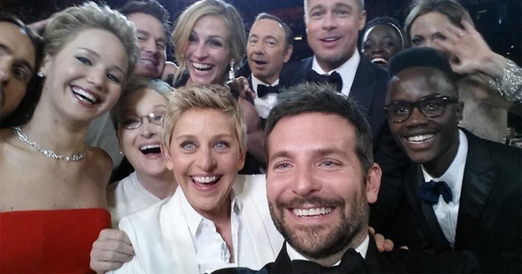 Celebrity selfie, selfie maken, selfie stick bedrukken