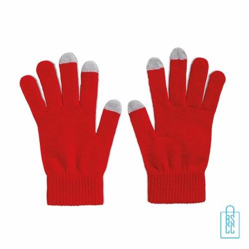 Smartphone handschoenen bedrukken goedkoop rood, telefoon accessoires bedrukken, telefoon gadgets bedrukken, goedkope relatiegeschenken bedrukken