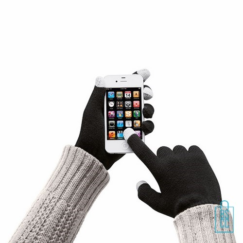 Smartphone handschoenen bedrukken goedkope winter relatiegeschenken, telefoon accessoires bedrukken, telefoon gadgets bedrukken, goedkope relatiegeschenken bedrukken