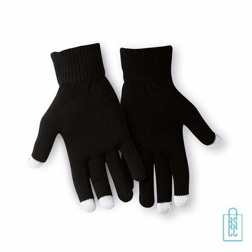 Smartphone handschoenen bedrukken met opdruk, telefoon accessoires bedrukken, telefoon gadgets bedrukken, goedkope relatiegeschenken bedrukken