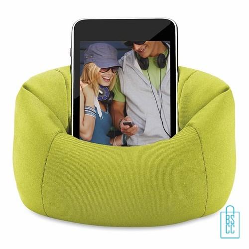 Telefoonstandaard mini zitzak bedrukken met logo, telefoon accessoires bedrukken, telefoon gadgets bedrukken, goedkope relatiegeschenken bedrukken