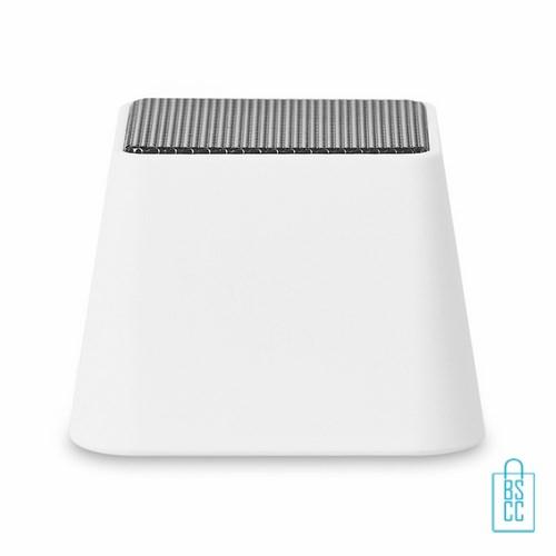Vierkante bluetooth speaker bedrukken wit, telefoon speaker bedrukken, bluetooth speaker bedrukken, goedkope telefoonspeaker, wireless speaker bedrukken