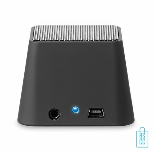 Vierkante bluetooth speaker bedrukt indicatielampje, telefoon speaker bedrukken, bluetooth speaker bedrukken, goedkope telefoonspeaker, wireless speaker bedrukken
