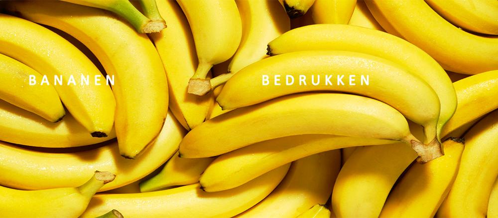 bananen bedrukken, fruit bedrukken, banaan met logo