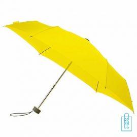 Opvouwbare paraplu bedrukken, LGF-214, kleine paraplu bedrukken, bedrukte opvouwbare paraplu, goedkope paraplu geel