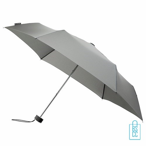 Opvouwbare paraplu bedrukken, LGF-214, kleine paraplu bedrukken, bedrukte opvouwbare paraplu, goedkope paraplu grijs