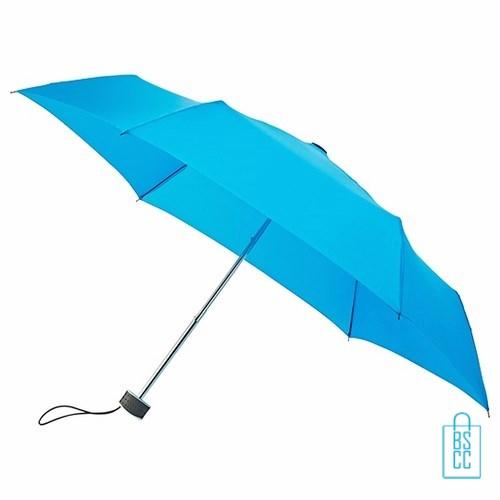 Opvouwbare paraplu bedrukken, LGF-214, kleine paraplu bedrukken, bedrukte opvouwbare paraplu, goedkope paraplu blauw