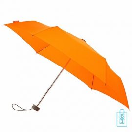 Opvouwbare paraplu bedrukken, LGF-214, kleine paraplu bedrukken, bedrukte opvouwbare paraplu, goedkope paraplu oranje