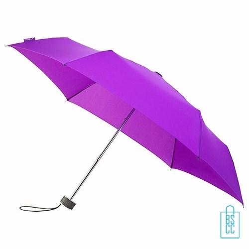 Opvouwbare paraplu bedrukken, LGF-214, kleine paraplu bedrukken, bedrukte opvouwbare paraplu, goedkope paraplu paars