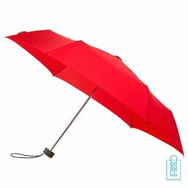 Opvouwbare paraplu bedrukken, LGF-214, kleine paraplu bedrukken, bedrukte opvouwbare paraplu, goedkope paraplu rood