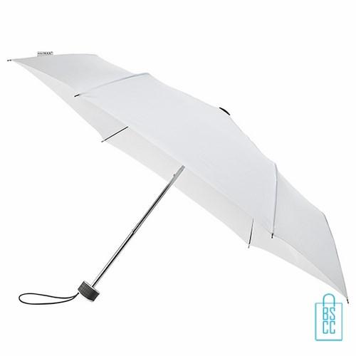 Opvouwbare paraplu bedrukken, LGF-214, kleine paraplu bedrukken, bedrukte opvouwbare paraplu, goedkope paraplu wit