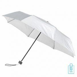 Opvouwbare paraplu bedrukken, LGF-50, bedrukte opvouwbare paraplu, goedkope witte paraplu met logo