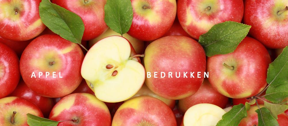 appel bedrukken, appels bedrukt, appels gezond
