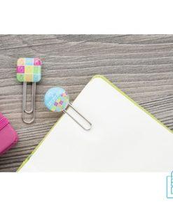 Paperclip bedrukken vierkant, paperclip bedrukt, paperclip met logo, bedrukte paperclip, paperclips goedkoop