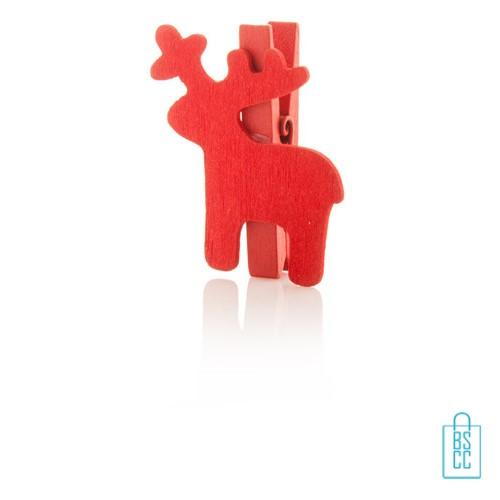 Houten clip rendier bedrukken, Houten clip rendier bedrukt, goedkope kerstgeschenken bedrukken, bedrukte kerstgeschenken met logo