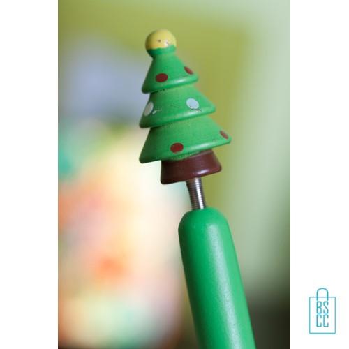 Houten pen Kerstboom , kerst pen bedrukken, bedrukte kerstboompen, sneeuwpop pen bedrukken, kerstman pen bedrukke