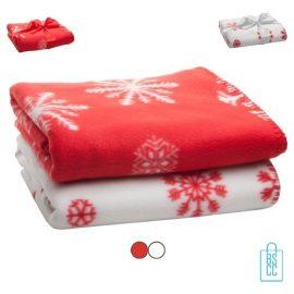 Kerst fleece denken bedrukken, bedrukte fleeche deken met logo, kerstgeschenk bedrukt