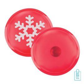 kerst heatpack bedrukken, bedrukte heatpack met logo, warmtekruik met logo