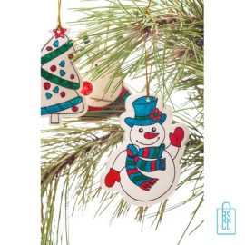 Kerstboomhangers kids creatief, kerstgeschenk kinderen bedrukken, ornamenten kleurset