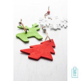 Kerstboomversiering kerstboom bedrukken, vilten ornamenten bedrukken, kerstboomhangers bedrukken