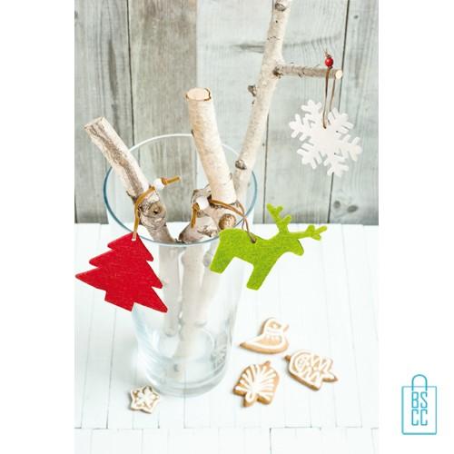 Kerstboomversiering rendier bedrukken, kerstboom ornamenten bedrukken, unieke geschenken bedrukt