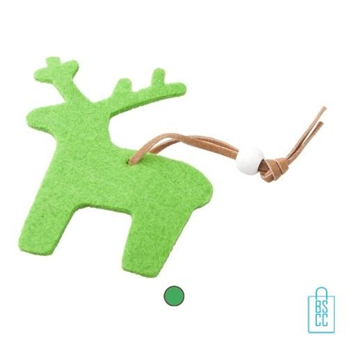 Kerstboomversiering rendier bedrukken, kerstboomversiering bedrukt, bedrukte kerstboomversiering met logo, kerstboom ornamenten bedrukken