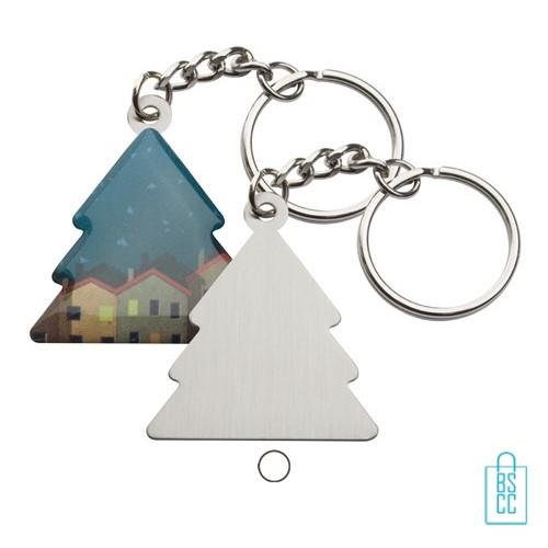 Sleutelhanger kerstboom bedrukken, goedkope kerstgeschenken bedrukken, bedrukte kerstgeschenken met logo