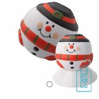 Stressbal sneeuwpop bedrukken, goedkope kerstgeschenken bedrukken, bedrukte kerstgeschenken, stressballen met logo