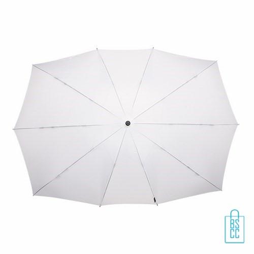 Duo Paraplu bedrukken TW-3 Wit top , duo paraplu bedrukt, duo paraplu met logo, TW-2,TW-3