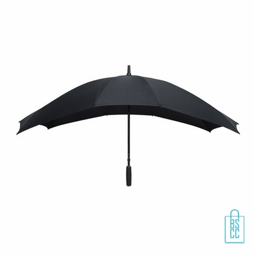 Duo Paraplu bedrukken TW-3 Zwart , duo paraplu bedrukt, duo paraplu met logo, TW-2,TW-3