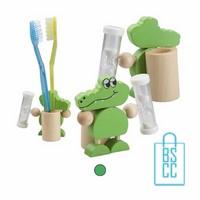 Houten tandenborstelhouder bedrukken, tandenborstelhouder bedrukt, tandenborstelhouder met logo