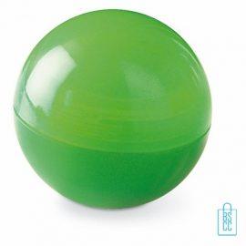Lippenbalsem bolletje bedrukken groen, Lippenbalsem bedrukken, bedrukte lippenbalsem, lippenbalsem bedrukt, chapstick bedrukken, lippenbalsem bedrukken, lippenbalsem met logo