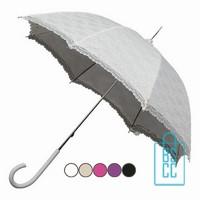Paraplu bedrukken, LR-1,retroparaplu, Luxe paraplu bedrukt, luxe paraplu met logo, stevige paraplu bedrukken, bruidsparaplu, trouw paraplu