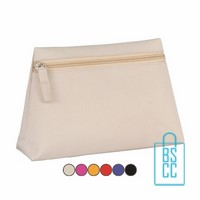 Make-up tas kenz bedrukkentoilettasje met logo, make-up tasje, transparant toilettasje, klein tasje bedrukken